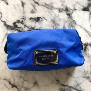 Michael Kors Blue Makeup Cosmetic Case